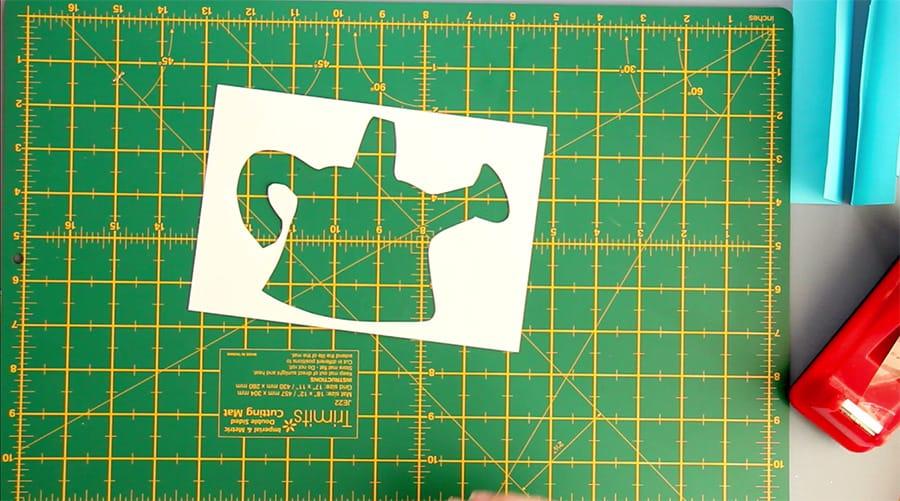 Iris Folding aperture card cutout