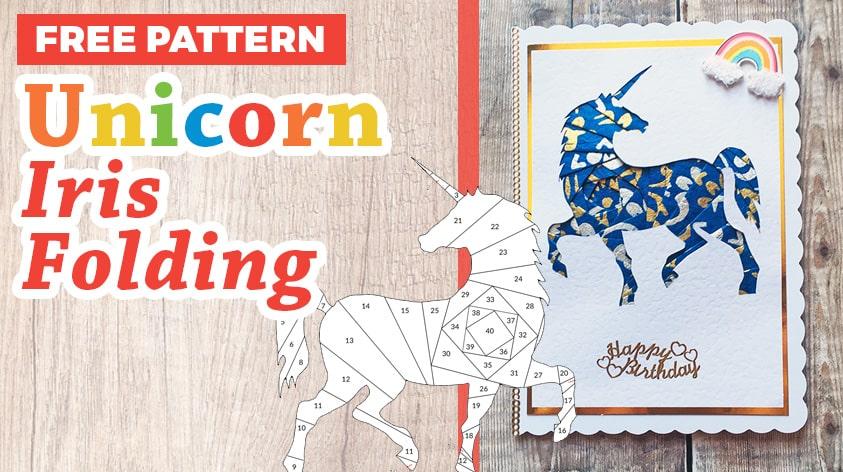 Unicorn iris folding pattern