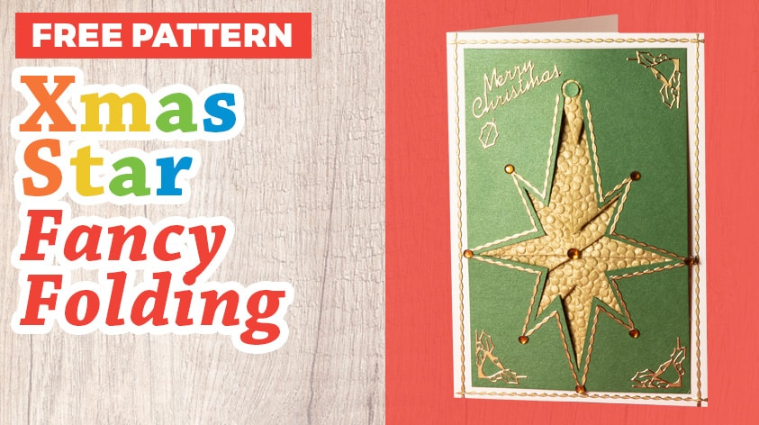 Christmas Star Fancy Folding Pattern