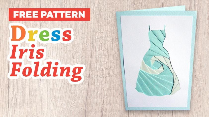 Dress iris folding pattern