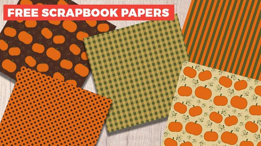 Free fall pumpkin scrapbook papers