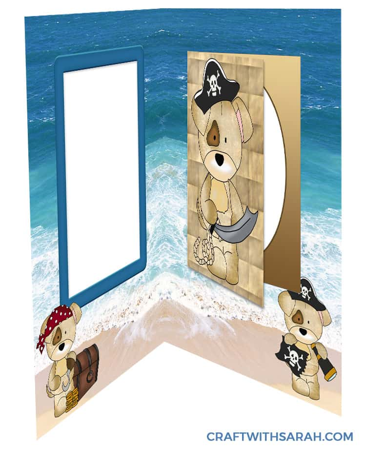 Make a pirate theme greetings card with this free kit.
