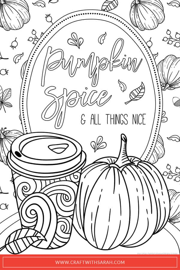 Pumpkin Spice Latte Coloring Pages Craft With Sarah
