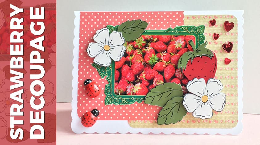 Free strawberry decoupage card making download