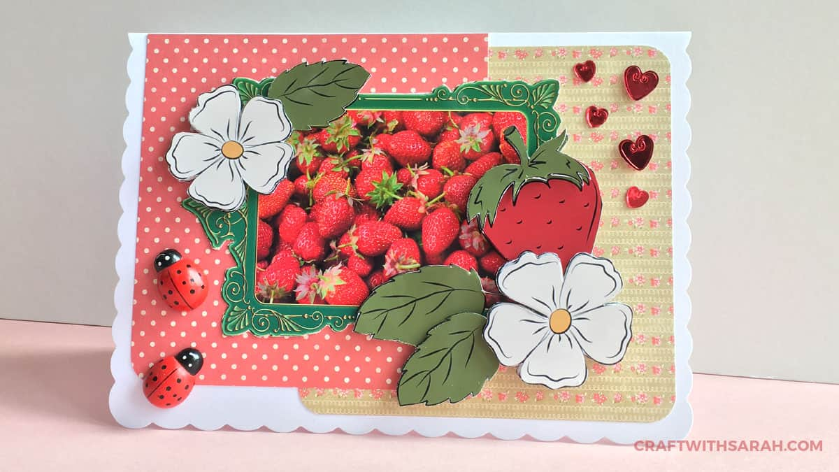 Strawberry handmade card