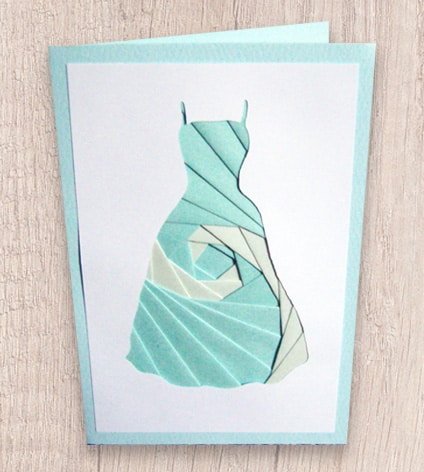 Summer dress iris folding pattern.