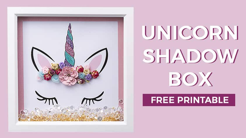 Unicorn shadow box free template