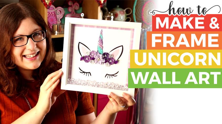 Unicorn Wall Art Tutorial & Free Printable