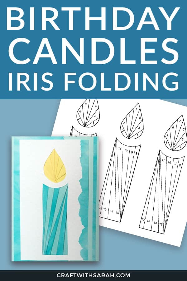 Birthday candles iris folding templates. Make an easy birthday card using this candles iris folding pattern.