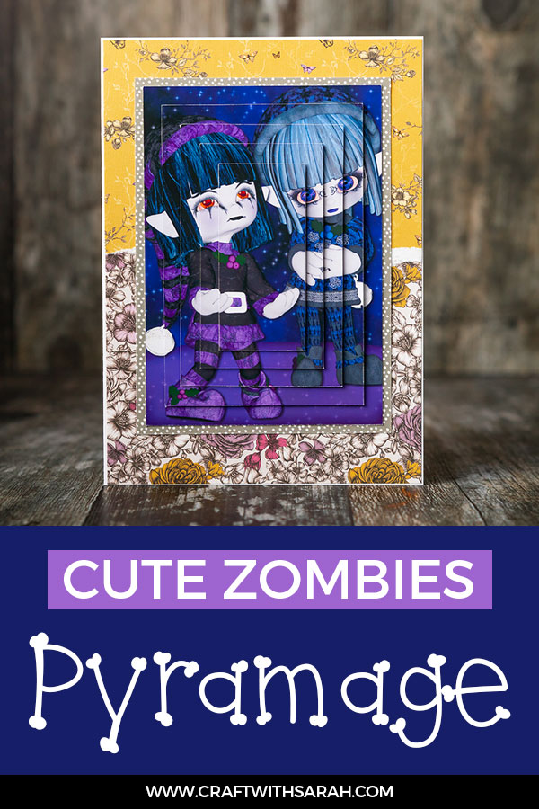 Free zombies pyramage topper card making download. Halloween Zombies Pyramid Topper for Card Making. Cute zombies for Halloween crafts. #halloween #zombies