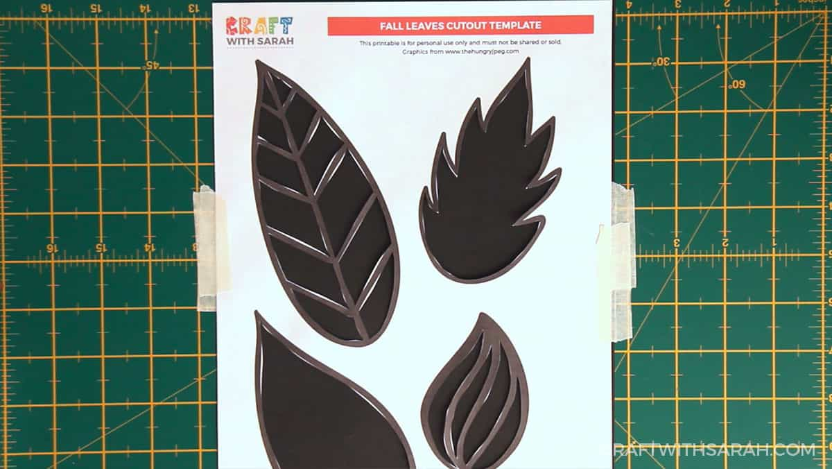 Fall craft for kids | Fall leaves painting step 3