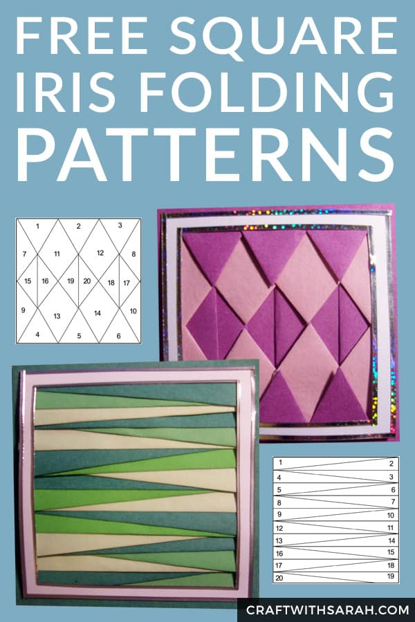Free Iris Folding Squares Patterns. Two free iris folding squares with different geometric patterns. Great fancy folding templates for any occasion.