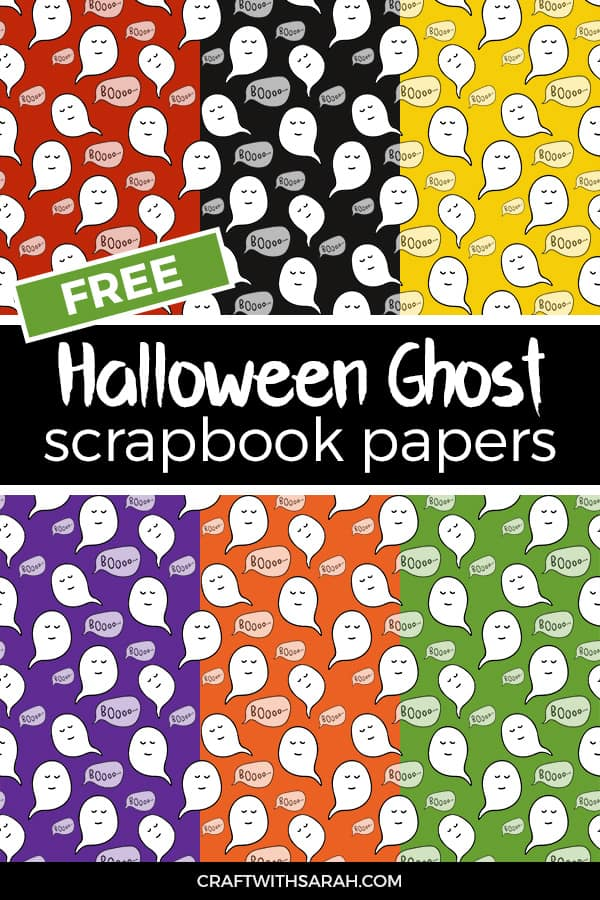 Ghost scrapbook papers to download and print at home for free