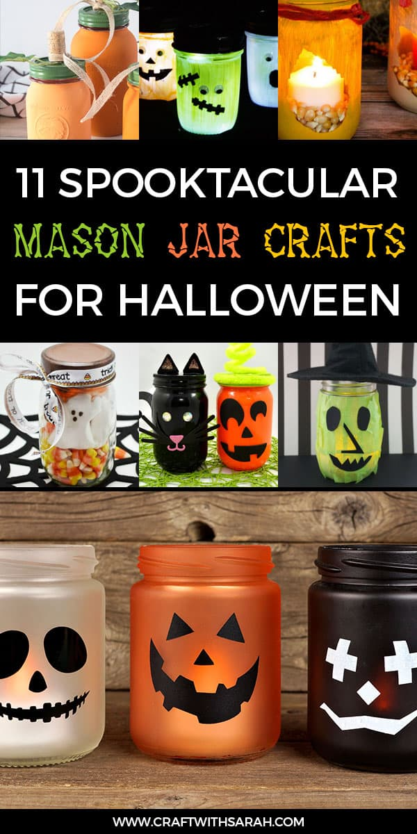 11 Best Halloween Mason Jar Ideas For Crafters Craft With Sarah