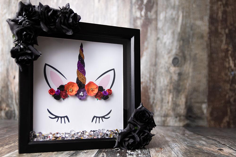 Gothic unicorn art for Halloween