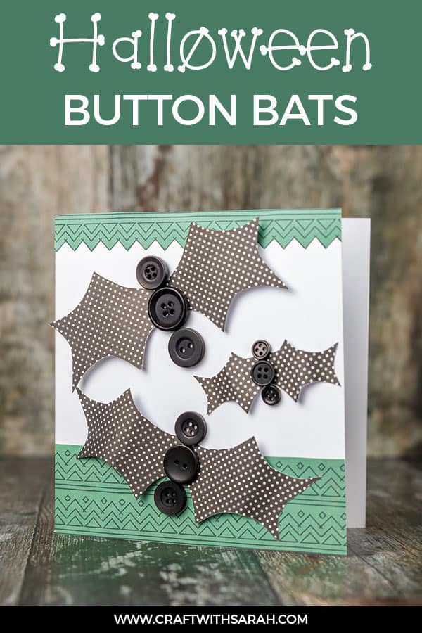 Halloween button bats handmade card