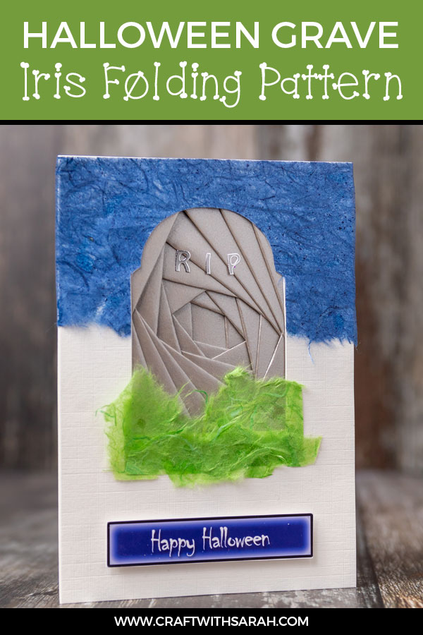 Spooky Gravestone Iris Folding for Halloween. Craft a creepy Halloween greetings card with this headstone iris folding template. Fold an iris folding grave for Halloween. #irisfolding #halloweencrafts #halloweencard