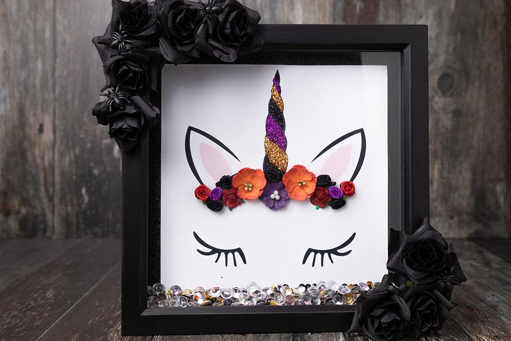 Halloween unicorn box frame