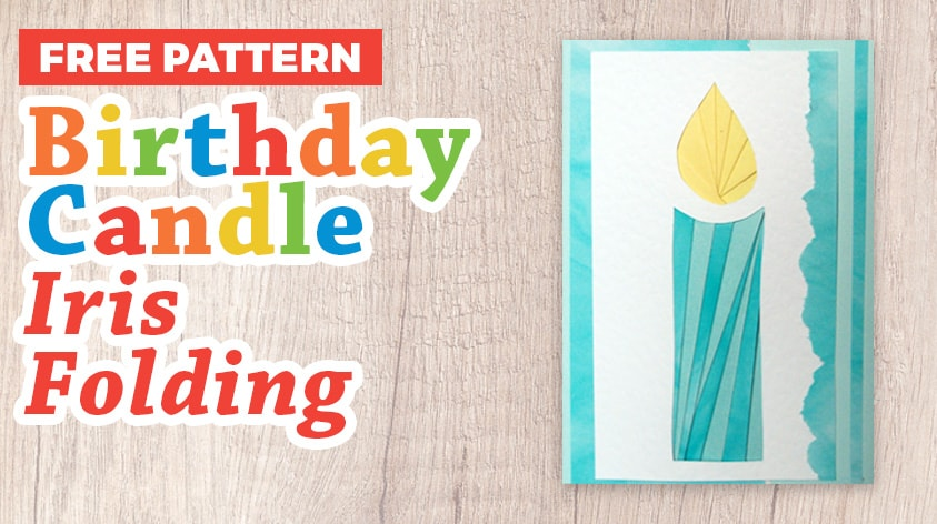 Birthday Candle Iris Folding Pattern