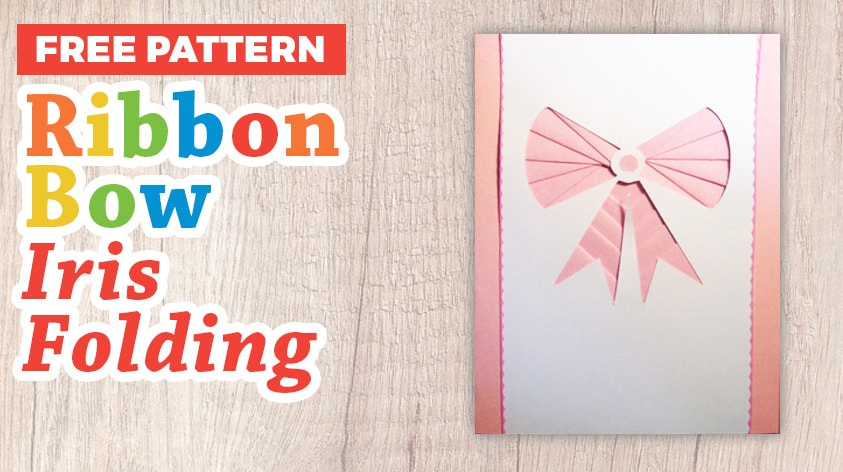 Ribbon bow iris folding pattern