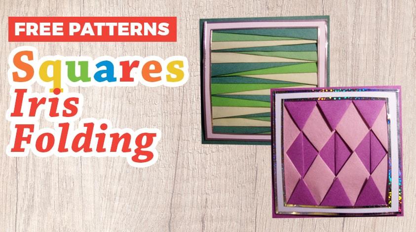 Free Iris Folding Squares Patterns