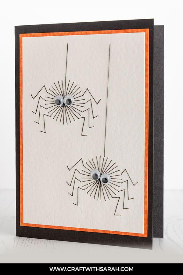 Stitching pattern of spiders for Halloween. Prick and stitch Halloween pattern of two cute spiders.