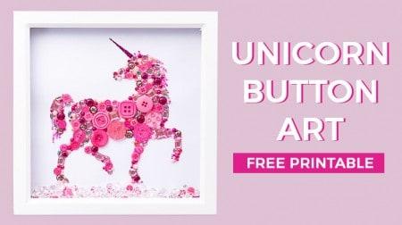 Unicorn Button Art Tutorial | How to make unicorn button art + free template