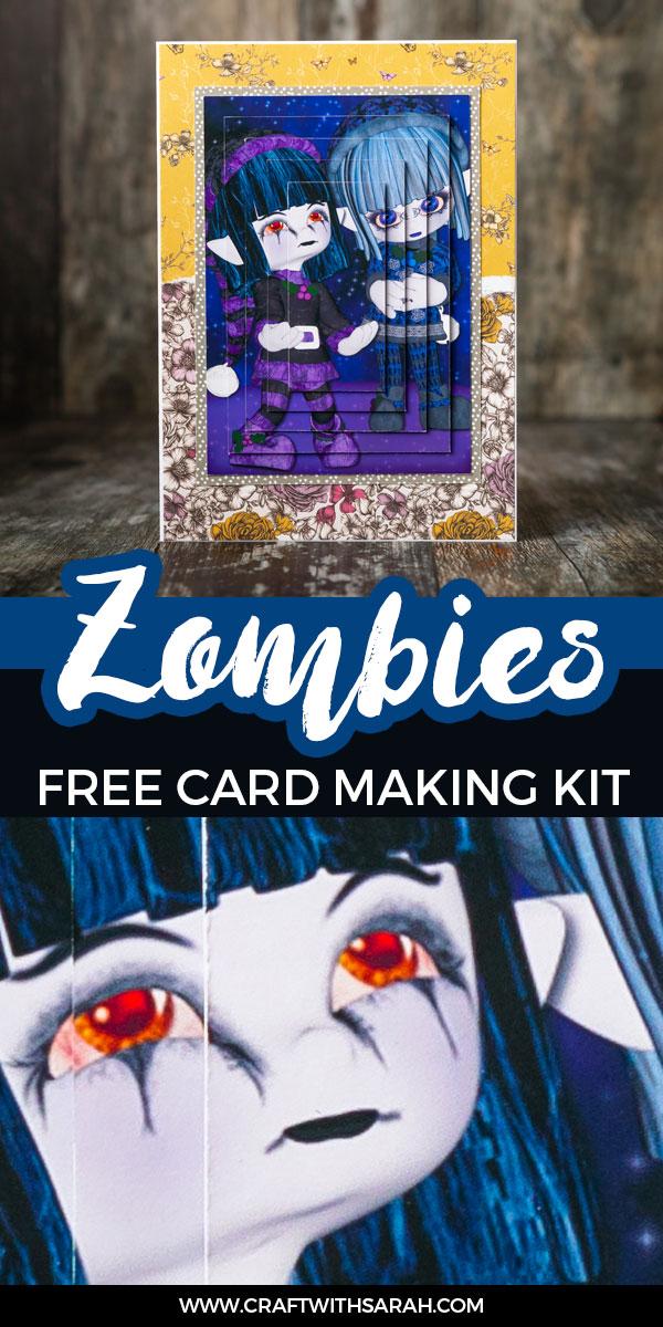 Halloween zombies card making kit