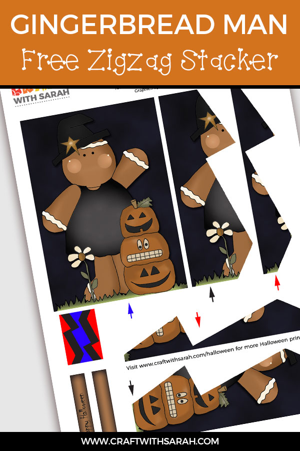 Free 3D zigzag stacker card making download for Halloween