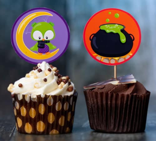 Free Halloween Cupcake Toppers Printable