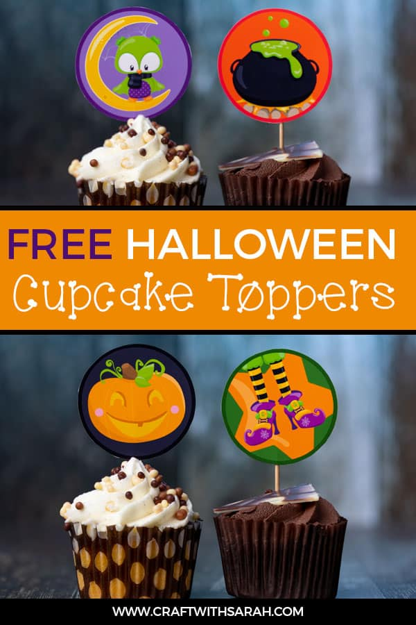 Jazz up your cupcakes and make them super spooky without any decorating skill by adding these cute Halloween cupcake toppers. #halloween #cupcakes