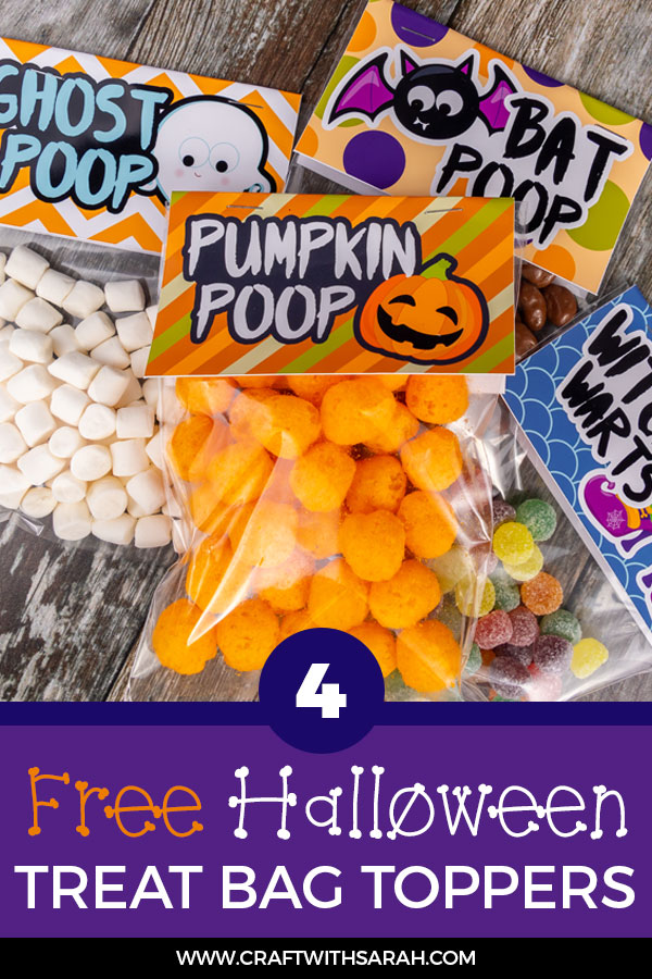 Make your house the talk of the town with spooktacular free Halloween treat bag topper printables. Bat poop, ghost poop, witch warts & pumpkin poop... yum!?