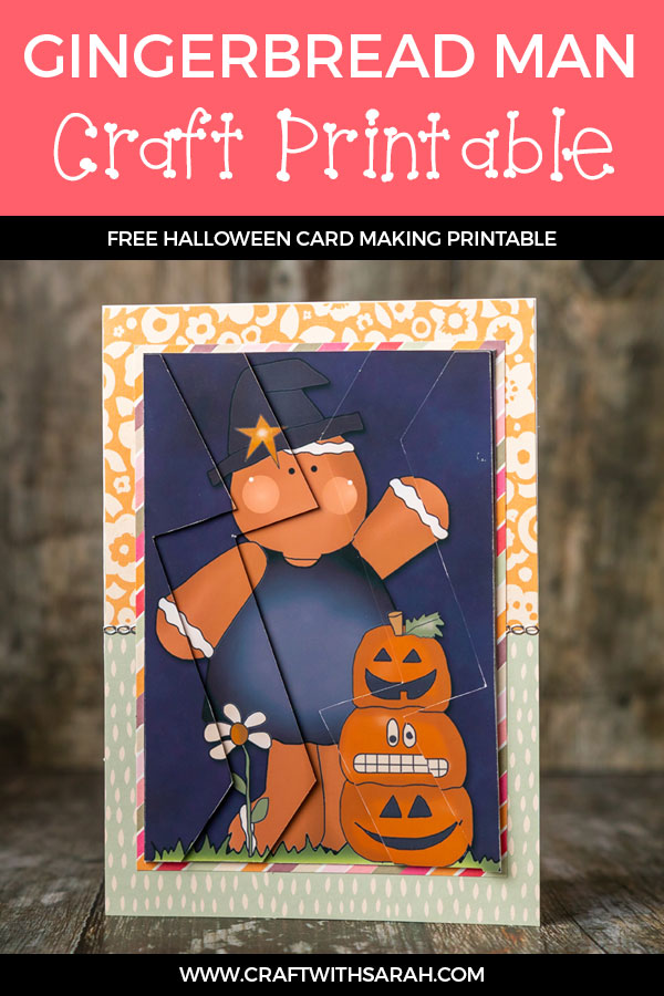 Halloween gingerbread man zigzag stacker. Try out a new 3D card making technique with this Halloween gingerbread man zigag stacker. #cardmaking #halloween