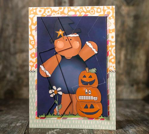 Halloween Gingerbread Man Zigzag Stacker