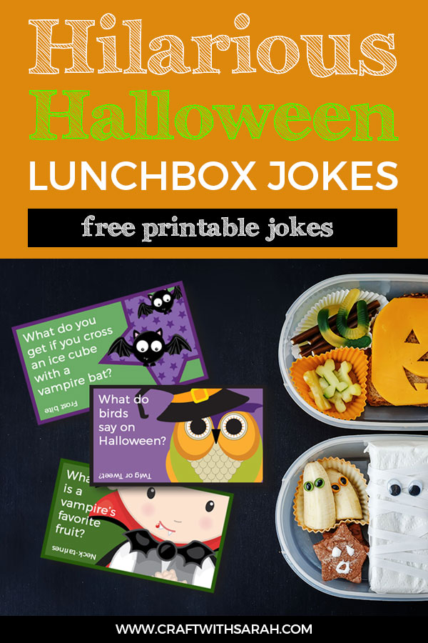 Give your kids a giggle with these hilarious Halloween joke cards to put in their lunchboxes. Halloween lunch box jokes for kids. #halloween #joke