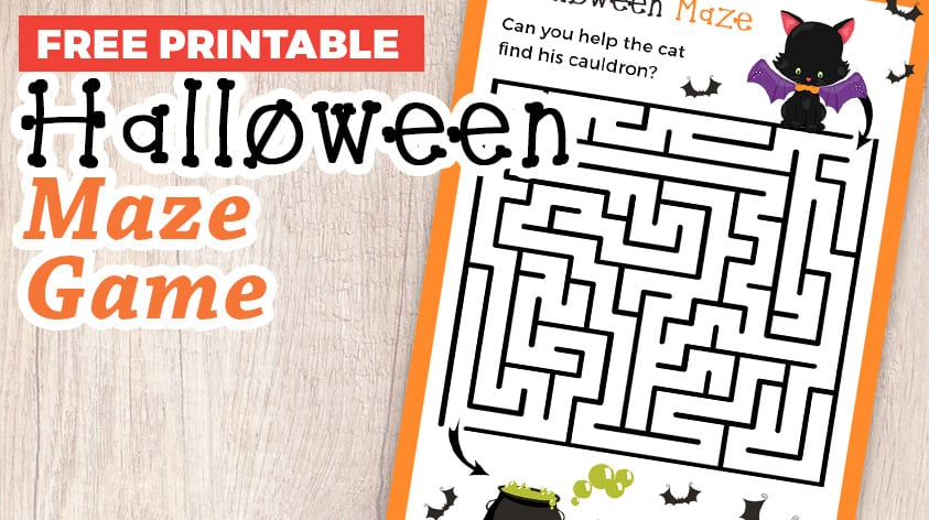 Challenge Time! Can you Solve this Halloween Maze Game?