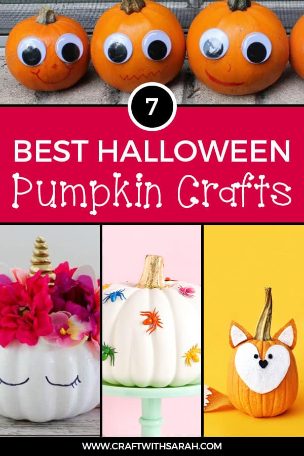 Save time and money this Halloween with these fun & EASY pumpkin craft ideas! DIY pumpkin crafts for #Halloween