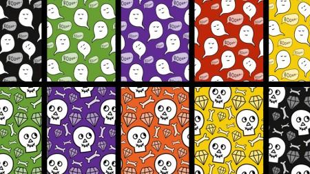 Ghosts & Skulls Cute Halloween Scrapbook Papers