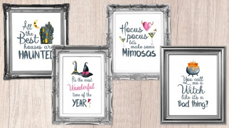 4 Spooktacular FREE Halloween Wall Art Printables