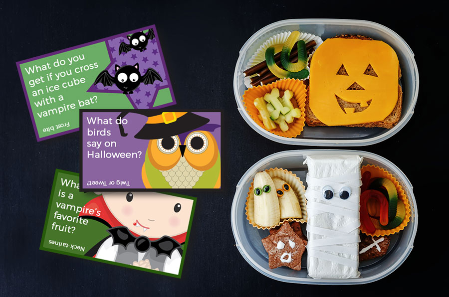 Halloween lunchbox jokes to download and print