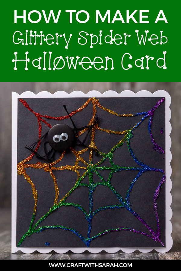 Easy handmade card tutorial for a Halloween greetings card.