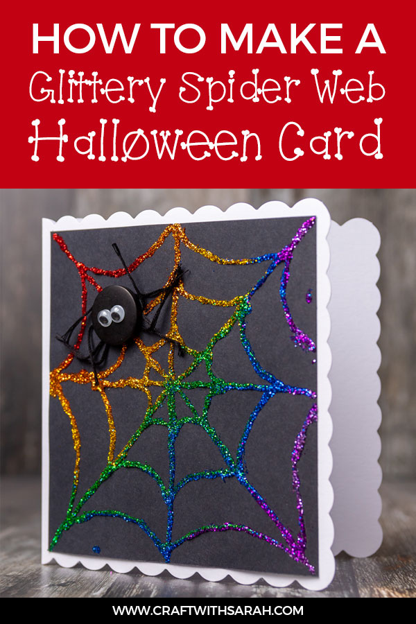 Glitter Spider Web Handmade Card