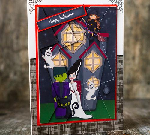 Haunted House Handmade Card