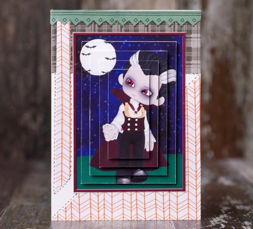 Vampire Boy Pyramage Card Making Sheet