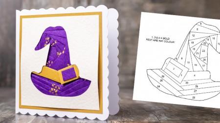 Witch Hat Iris Folding Pattern