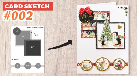 How to make your own decoupage cards with 2D stickers