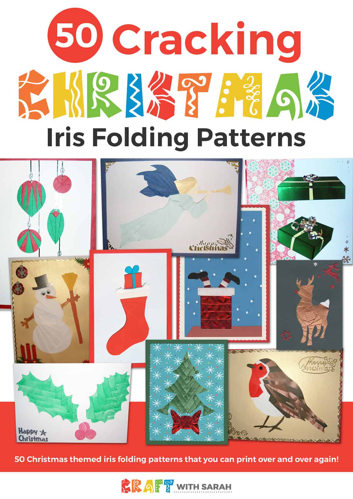 50 Christmas iris folding patterns