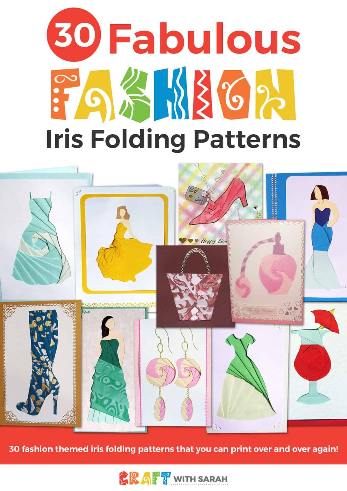 'Fabulous Fashion' Iris Folding Pattern Bundle