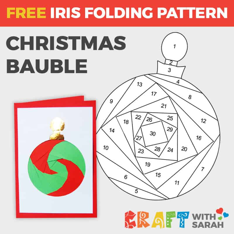 Christmas Bauble Iris Folding Pattern