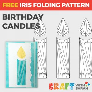 Birthday Candles iris folding pattern